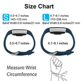 Poy Replacement Bands Compatible For Fitbit Charge 2, Classic &Amp; Special Edition Sport Wristbands, Large Dark Blue, 1Pc