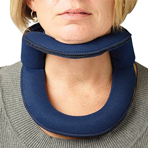 Rolyan Adjustable Frame Cervical Collar, Size Small, Soft Neck Brace Fits Neck Circumferences 12  - 14 , Wire Frame, Bendable Collar Stabilizes Neck After Head And Neck Injuries