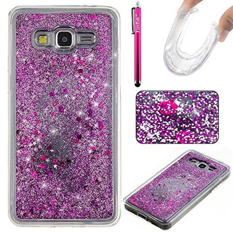 Galaxy G530 Case, Galaxy Grand Prime Case, Firefish Slim Dynamic Flowing [Anti-Slip] Flexible Tpu [Scratch Resistances] Protective Cover For Girls Fits For Samsung Galaxy Grand Prime G530 -Purple