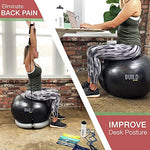 Gearrific Exercise Ball, Stability Base &Amp; Resistance Bands Set + Free Pump, Jump Rope, Workout Bands, Gym Towel &Amp; Water Bottle