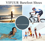 Vifuur Men Women Water Shoes Barefoot Skin Shoes For Run Dive Surf Swim Beach Yoga 3D Beam Blue 36/37