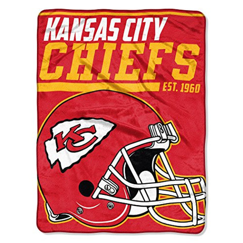 Nfl Kansas City Chiefs 40 Yard Dash Micro Raschel Throw, 46  X 60