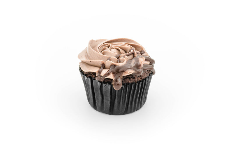 Cupcakes - Chocolate with chocolate SMBC (box of 12 pieces)
