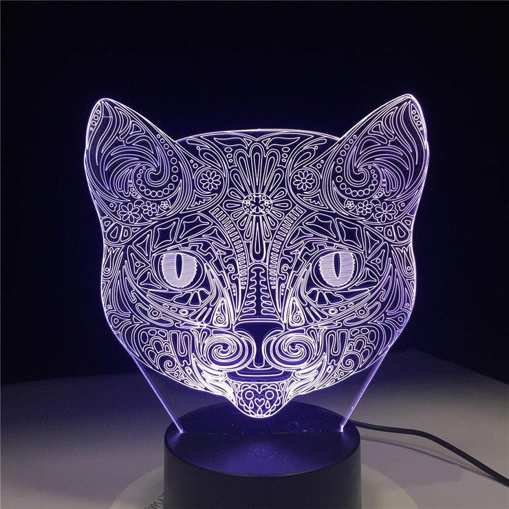 Lampe-chat-3D-couleur-blanc