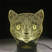 Lampe-chat-3D-couleur-jaune