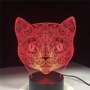 Lampe-chat-3D-couleur-rouge