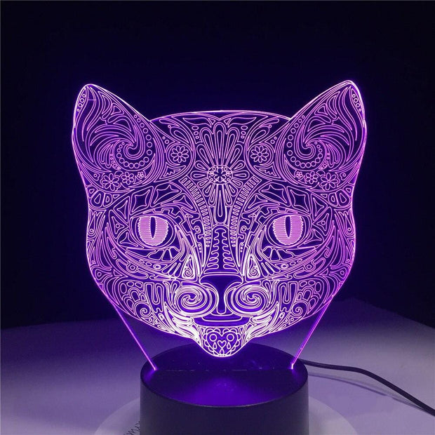 Lampe-chat-3D-couleur-violet