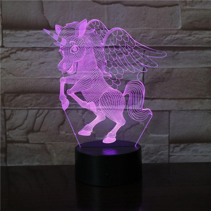 lampe-veilleuse-licorne-led-rose