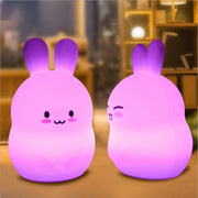 lapin-led-veilleuse-rose