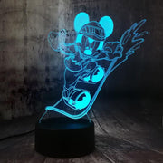 Veilleuse_Mickey_sport_couleur_turquoise