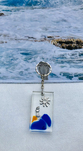 Key Chain-Mermaid with Sun