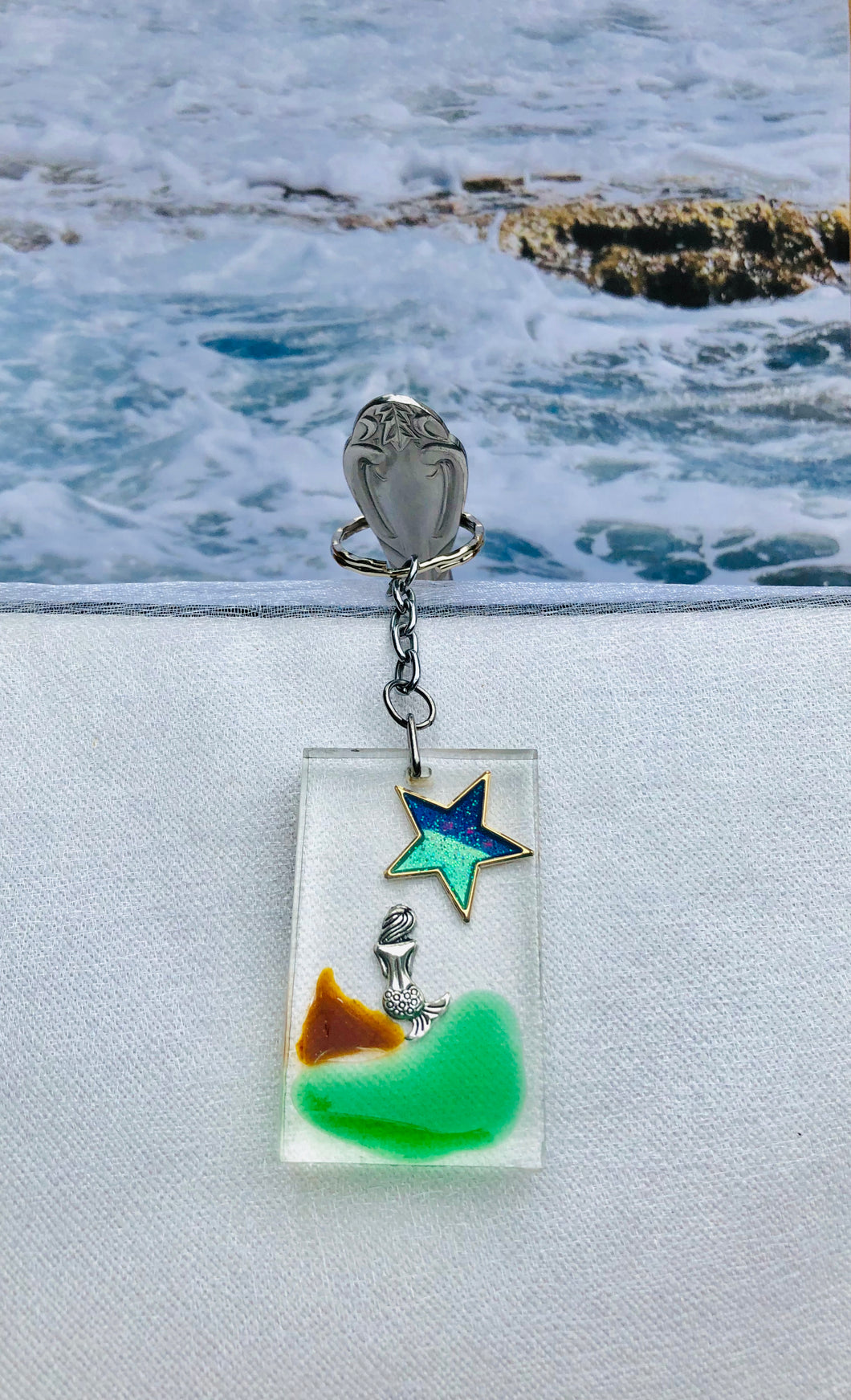 Key Chain-Mermaid with Star
