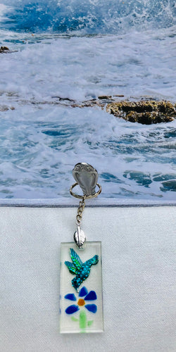 Key Chain-Blue Hummingbird