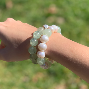 Freshwater Pearl and Tourmaline Bracelet