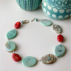 Global Jasper and Red Coral Necklace
