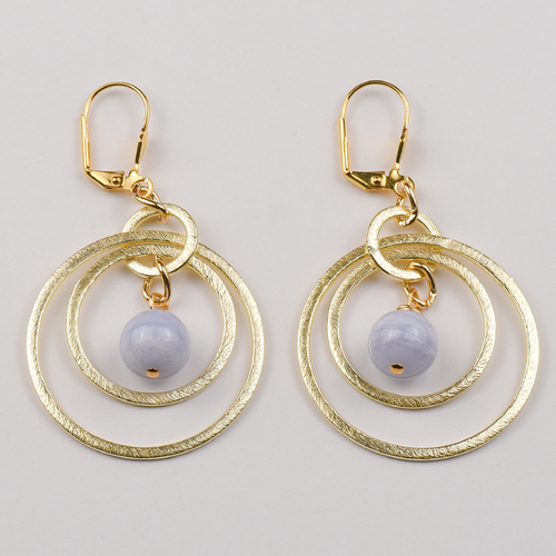 Sky and Circles Earrings