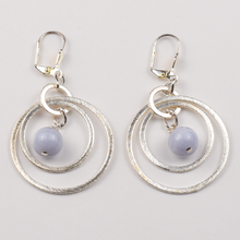 Load image into Gallery viewer, Sky and Circles Earrings