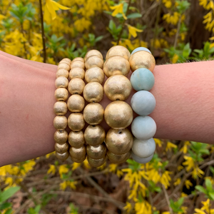Jumbo Brushed Gold Savannah Bracelet
