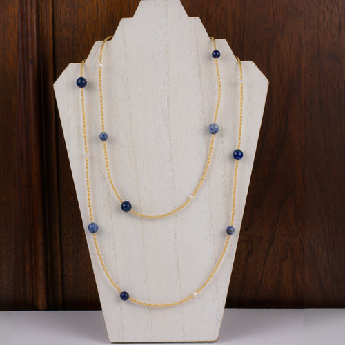 Henrietta Lapis on Gold Necklace