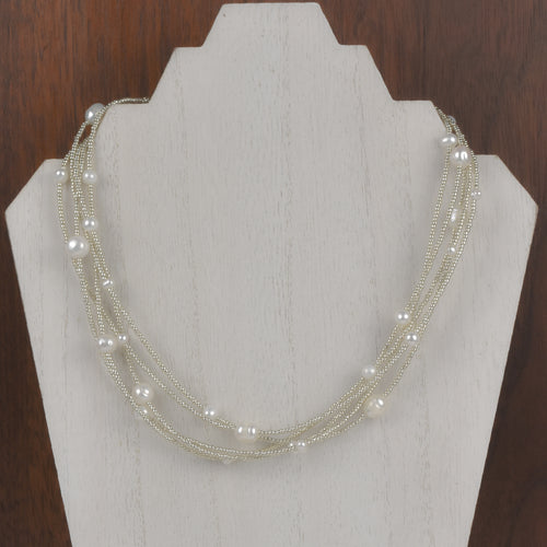 Henrietta 5 Strand Mixed Pearl Necklace