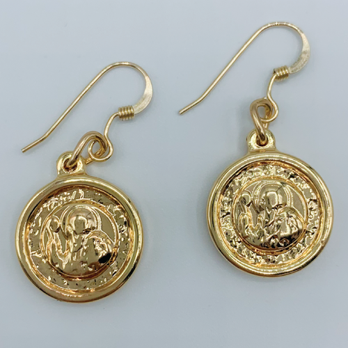 Gold plated Coin Earrings