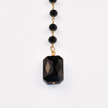 Load image into Gallery viewer, Black Crystal Lariat Necklace