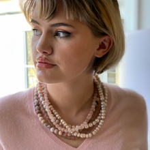 Load image into Gallery viewer, Four Strand Blush Statement Necklace