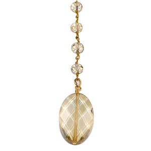 Champagne Crystal Lariat Necklace