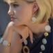 Mother of Pearl Flower Earring: Gold or Silver 1
