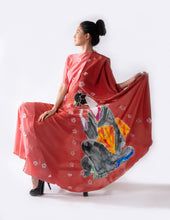 Load image into Gallery viewer, Cherry Blossom Geisha Poncho