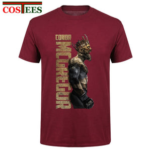 95fc25405 Casual T Shirts 3XL The King Of Conor Mcgregor MMA Featherweight Champion  Men's Pre-Cotton Short Sleeve T Shirts Crazy UFC Shirt