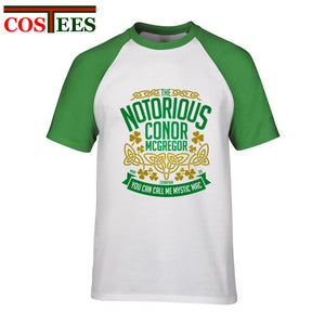 4aa28fd9c Notorious Conor McGregor T Shirts Men MMA Brand clothing Cool man UFC Crest  t-shirt hombres Unique Irish Tops hipster tees homme