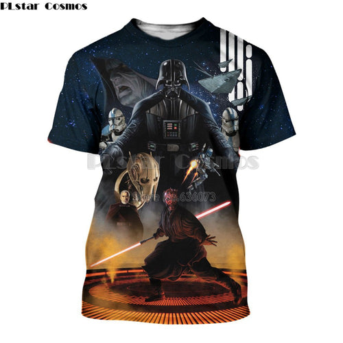 0bb2c4eb5 PLstar Cosmos summer Fashion Men t shirt 3D All over Printed Darth vader  and star wars