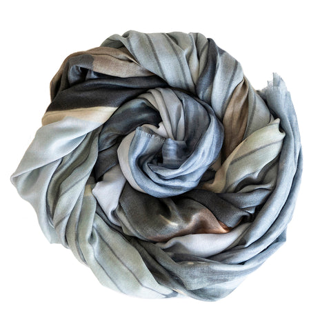 Blue Boathouse Wool Silk Scarf