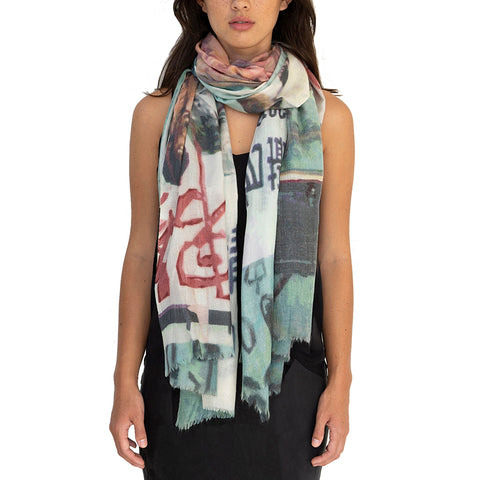 Cat Street Wool Silk Scarf