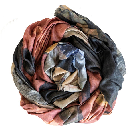 TriBeCa Wool Silk Scarf