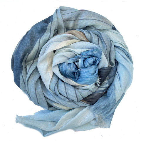 Blue Boathouse Cotton Linen Scarf