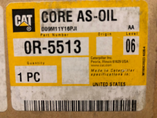 New Caterpillar Reman oil cooler core 0R5513 (7C0145, 4N0624, 6N9114, 4W6045) - Yellow Power International