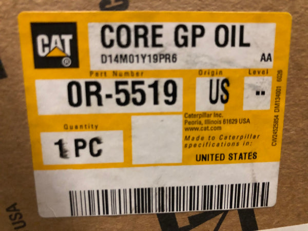New Caterpillar Reman oil cooler core 0R5519 (4W4980) - Yellow Power International