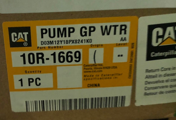 New Caterpillar Reman water pump 10R1669 (4160610, 2128177, 1664378, 1220500) - Yellow Power International