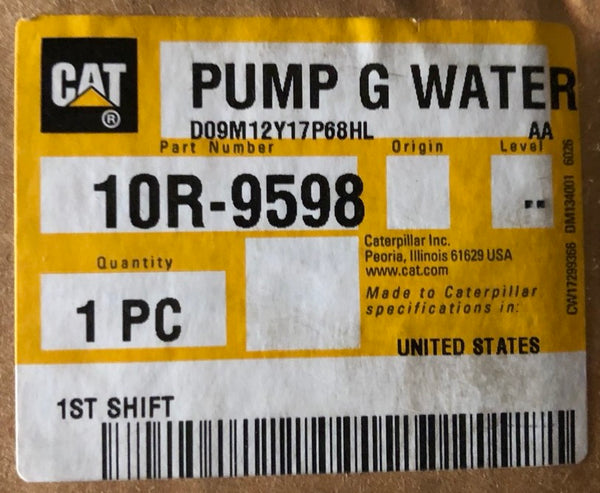 New Caterpillar Reman water pump 10R9598 (4160613, 3132650, 2128174, 1664382) - Yellow Power International