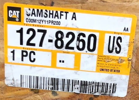 New Caterpillar camshaft 1278260 (1064596, 0R8498) - Yellow Power International
