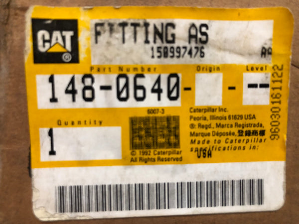 New old stock Caterpillar fitting / bellows assembly 1480640 (2071331, 7E0873, 2W3029) - Yellow Power International