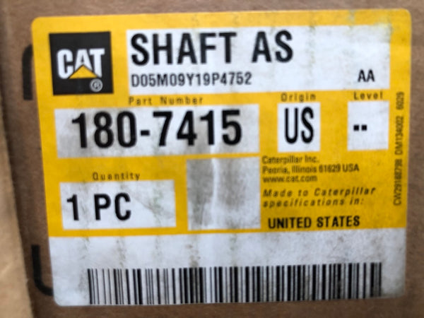 New Caterpillar shaft 1807415 - Yellow Power International