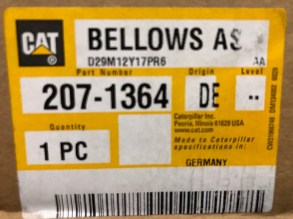New Caterpillar bellows assembly 2071364 (1665942, 1221693, 1008940, 7E8485) - Yellow Power International