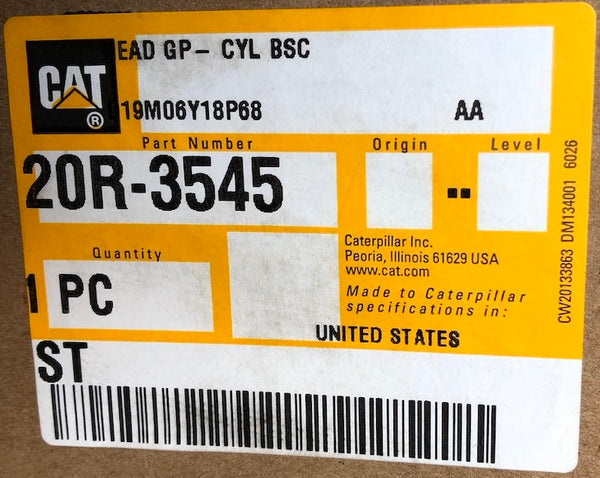 New Caterpillar Reman cylinder head 20R3545 (3805798, 3805795, 3760393, 3356220, 2901352, 10R8618, 10R7766, 20R0695, 20R3543) - Yellow Power International