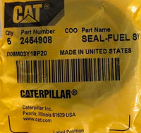 New Caterpillar fuel injector seal-o-ring 2454908 - 5 pieces