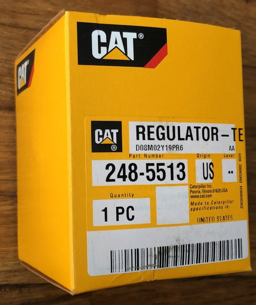 New Caterpillar temperature regulator (thermostat) 2485513 (4184163, 4W4794, 1743504, 6I4950, 3121055, 3677900) - Yellow Power International