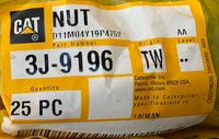 New Caterpillar nut 3J9196 - 25 pieces - Yellow Power International