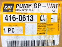 New Caterpillar water pump 4160613 (10R9598, 3132650, 2128174, 1664382) - Yellow Power International